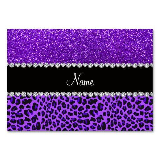 Des lila lila Glitter Leopard-Indigos des