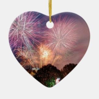 Des Lord Bürgermeisters Fireworks, Southbank Keramik Herz-Ornament