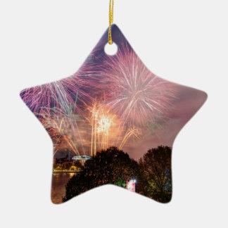 Des Lord Bürgermeisters Fireworks, Southbank Keramik Stern-Ornament