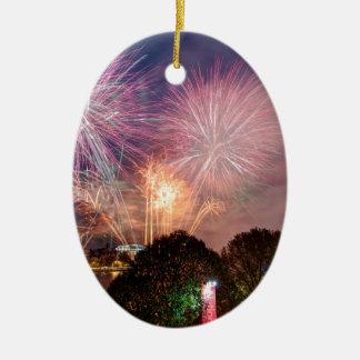 Des Lord Bürgermeisters Fireworks, Southbank Ovales Keramik Ornament
