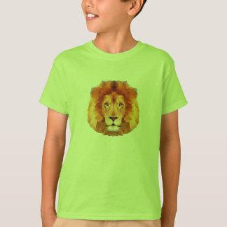 Des LÖWES Polyentwurf niedrig. Löweillustration T-Shirt