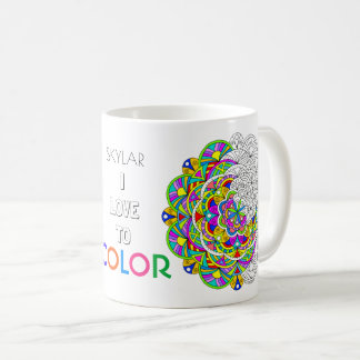 Des Mandala-010617 Liebe Erwachsen-des Farbton-I Kaffeetasse