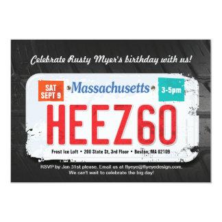 Des Massachusetts des Typ 60. 12,7 X 17,8 Cm Einladungskarte