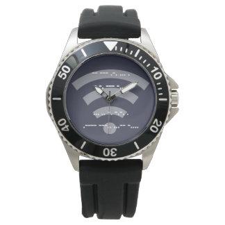 Des Morsealphabet-Entwurfs s/s der Männer schwarze Uhr