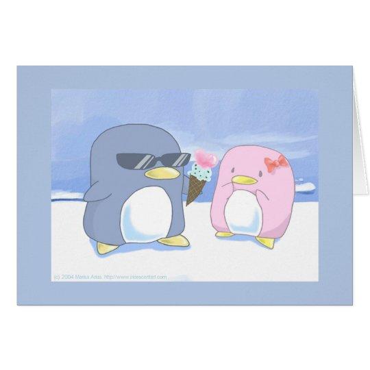 Des Penguins sind niedlich! Grußkarte