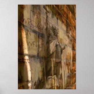 """""""Des Schreibens auf der Wand"""" 13x19 politisches Pl Plakate"""