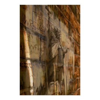 """""""Des Schreibens auf der Wand"""" 24x36 politisches Pl Poster"""