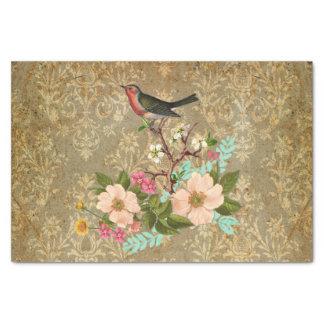 des Vintagen viktorianisches Braun Seidenpapier