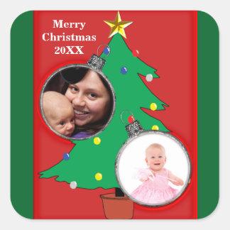 Des Weihnachtsbaum-zwei Aufkleber Verzierungs-des