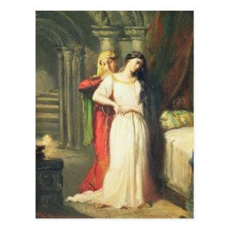 Desdemona, das zu ihrem Bett, 1849 sich Postkarte