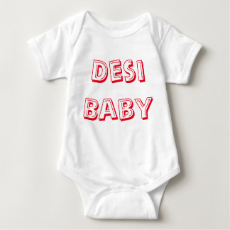 Desi Baby! (Indisches Baby!) Baby Strampler