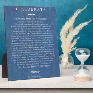 Desiderata auf Denim Fotoplatte