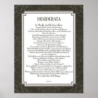 DESIDERATA Blackswirl ohne Poster