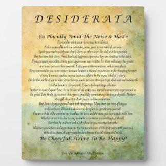 Desiderata-Gedicht auf Aquarell-Wald Fotoplatte