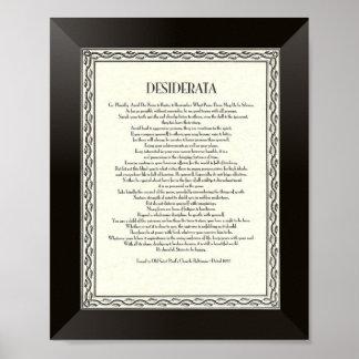 DESIDERATA Gedicht durch maximales Ehrmann Poster