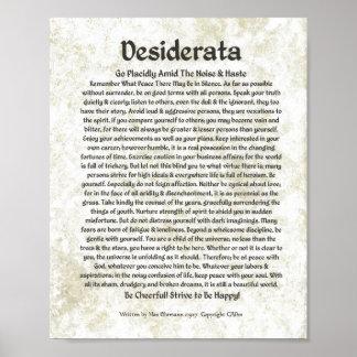 DESIDERATA Gedicht-maximale Ehrmann-Mittelalterlic Poster