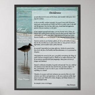Desiderata-Gedicht - Seemöwe auf Poster