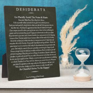 Desiderata-Tafel-Kreide-Kunst Fotoplatte