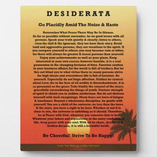 Desiderata-tropischer Sonnenuntergang Fotoplatte