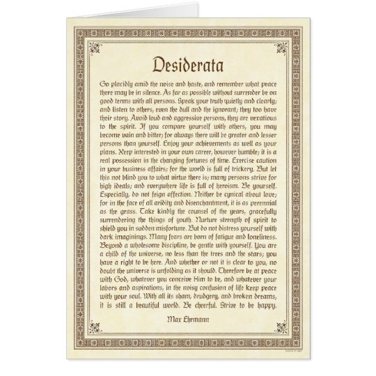 Desiderataanmerkungskarte, mittelalterlicher mitteilungskarte