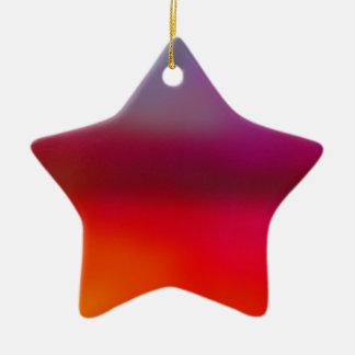 Design Farbnebel no.5 Keramik Stern-Ornament