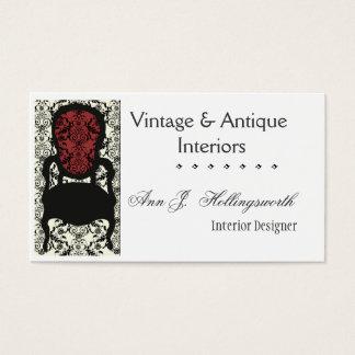 Designer-Dekorateur-viktorianischer Visitenkarte