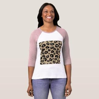 Designer-T - Shirtrosa mit Leopardmuster T-Shirt