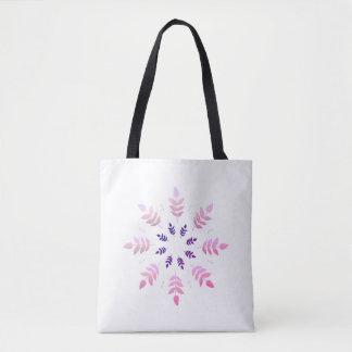 Designer-Taschentasche: Rosa-Blätter Tasche