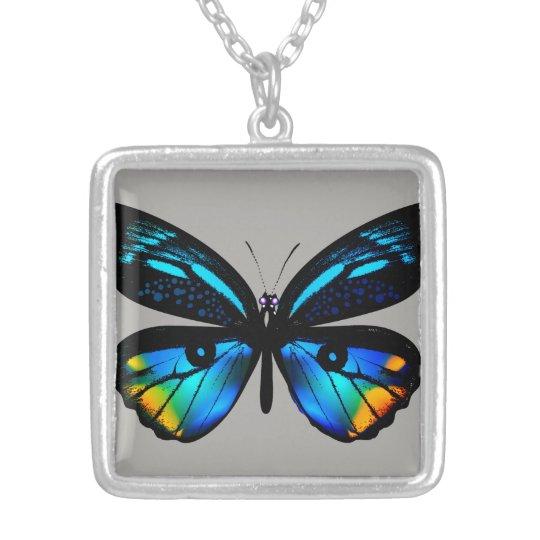 Designerluxushalskette mit Schmetterling Halskette Mit Quadratischem Anhänger