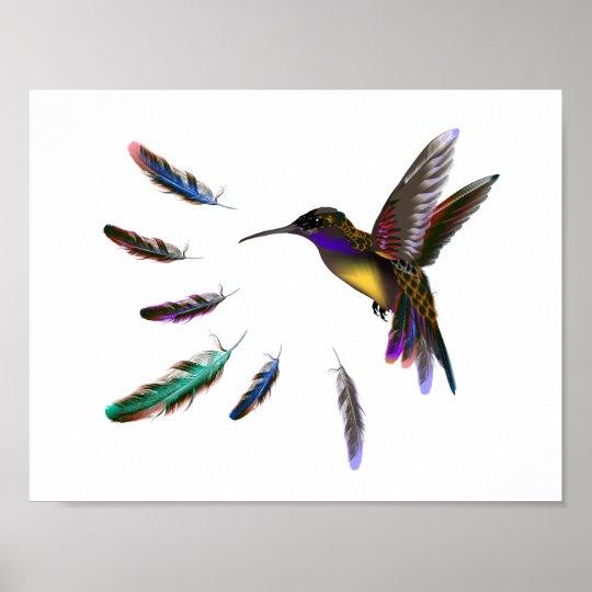 Designerpapierplakat mit Vogel Poster