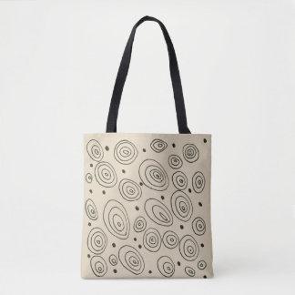 Designertasche mit Modekreisen Tasche