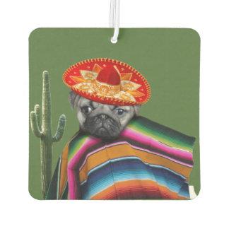 Désodorisant Pour Voiture Parfum d'ambiance mexicain de chien de carlin