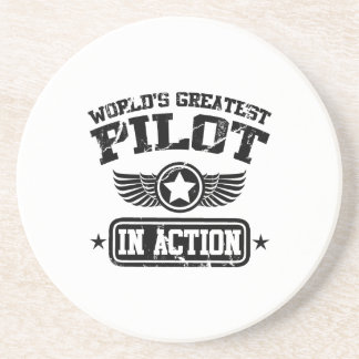 Dessous De Verre En Grès Le plus grand pilote du monde dans l'action