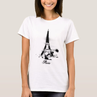 Dessus de spaghetti d'art de Paris T-shirt