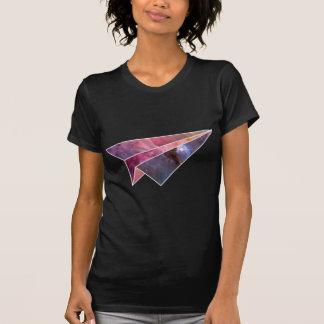 Dessus plat de papier galactique de dames t-shirt