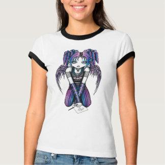 Dessus rose de sonnerie d'ange d'Ariel Emo T-shirt