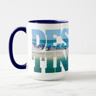 Destin Strand-Foto-einzigartige Typografie modern Tasse