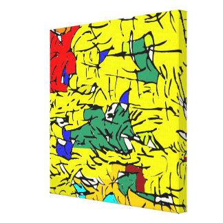 Detail abstrakt leinwanddruck