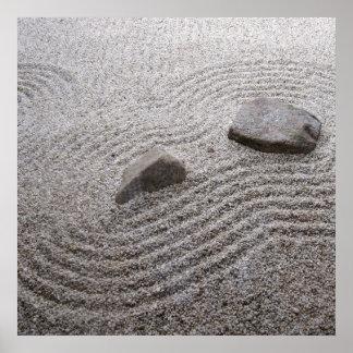 Détail de jardin de zen posters