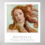 Détail de la naissance de Vénus par Botticelli Posters