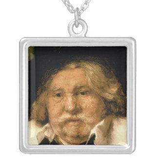 Detail eines Porträts eines alten Mannes, 1667 Halskette Mit Quadratischem Anhänger