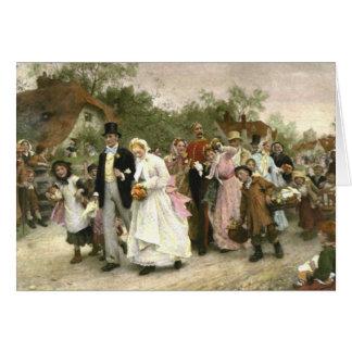 Detail von einer Dorf-Hochzeit durch Luke Fildes Karte