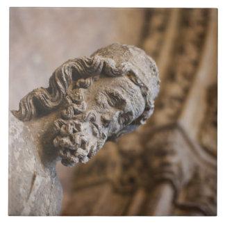 Detail von Klöster Patriarch Zacarias Statue Fliese