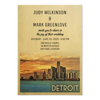 Detroit-Hochzeits-Einladung Michigan Karte