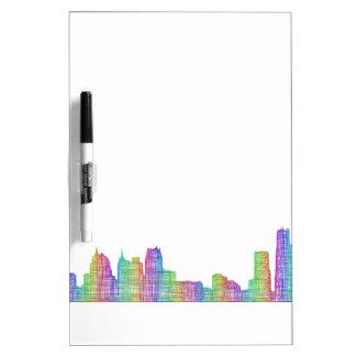 Detroit-Stadt-Skyline Trockenlöschtafel