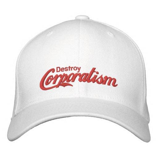 Détruisez le corporatisme casquettes brodées