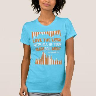 Deuteronomy 6:5 - Herz-Soul könnte T-Shirt