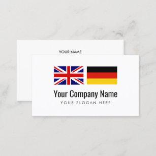 Deutsch Englischer übersetzer Der Visitenkarte