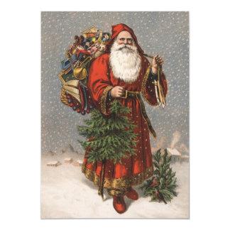 Deutsch-Sankt-Weihnachtskarte 12,7 X 17,8 Cm Einladungskarte