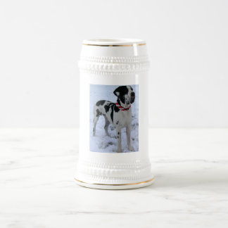 Deutsche Dogge, Great Dane,Hunde,Weihnachten Bierkrug